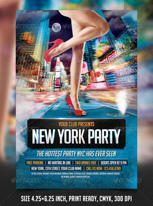 GraphicRiver New York Party Flyer Template