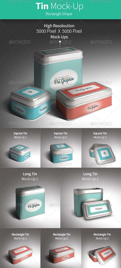 GraphicRiver Tin Can Mock-Up Vol.2 (Rectangle)