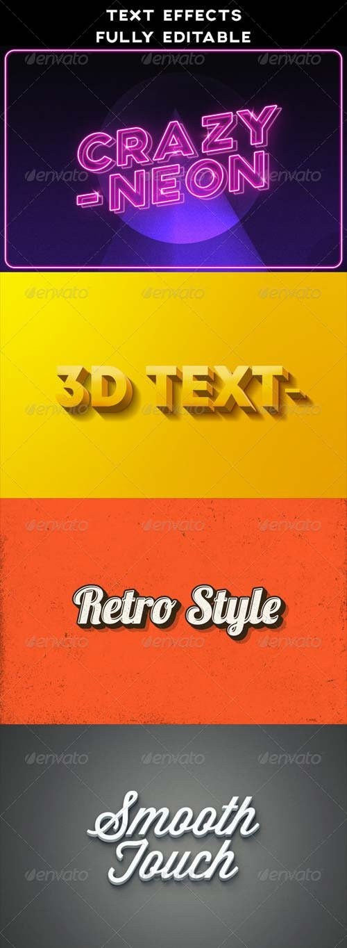 GraphicRiver Text Effects | Vintage | 3D | Retro | Neon