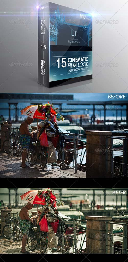 GraphicRiver 15 Cinematic Film Look Lightroom Presets