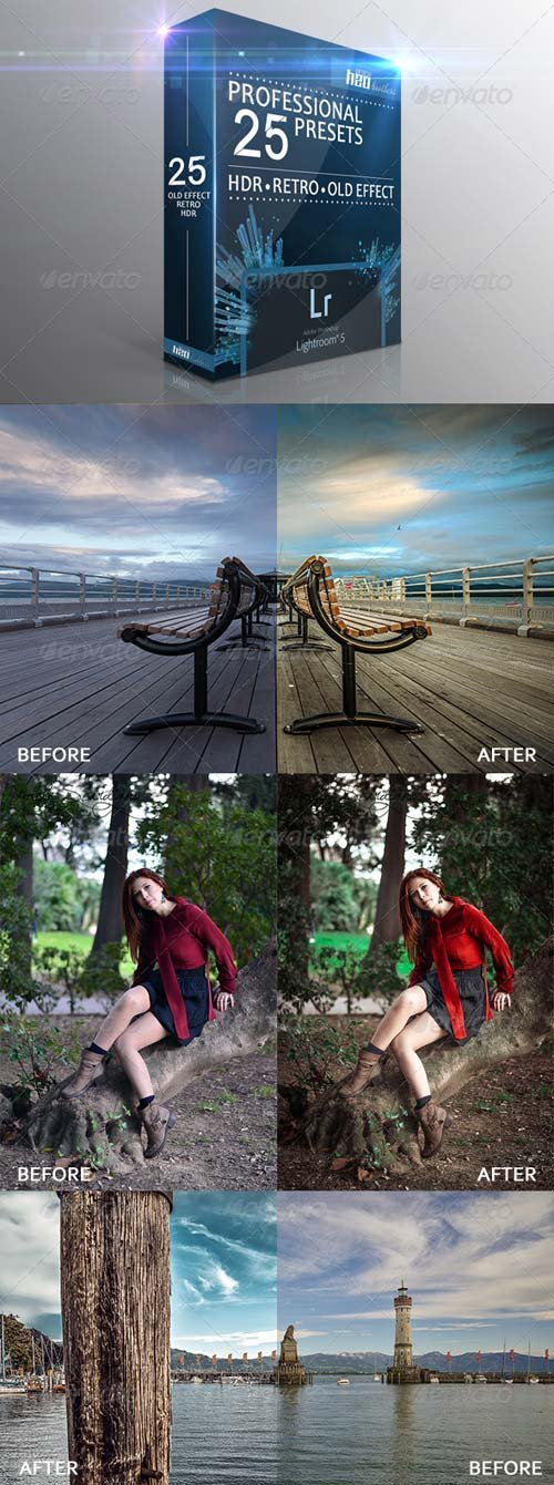 GraphicRiver 25 HDR Retro Old Effect Lightroom Presets