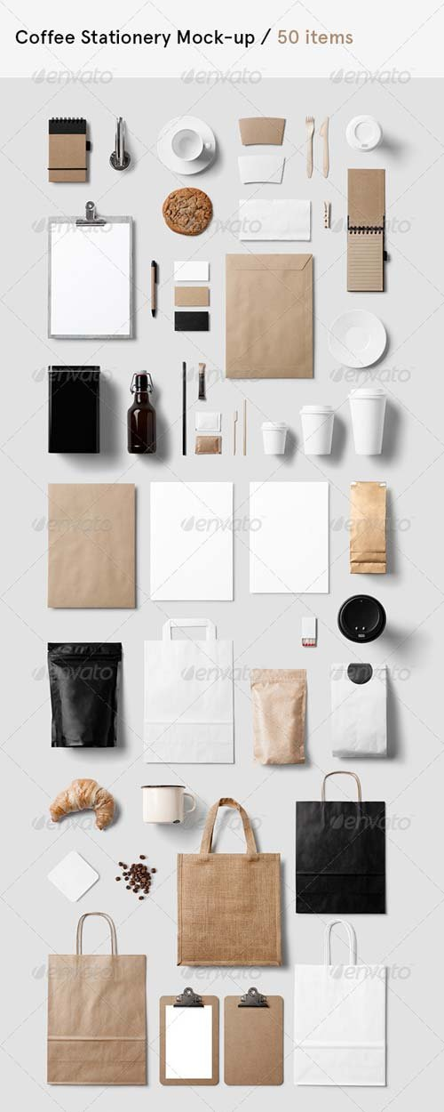 GraphicRiver Coffee Branding / Stationery Mock-Up