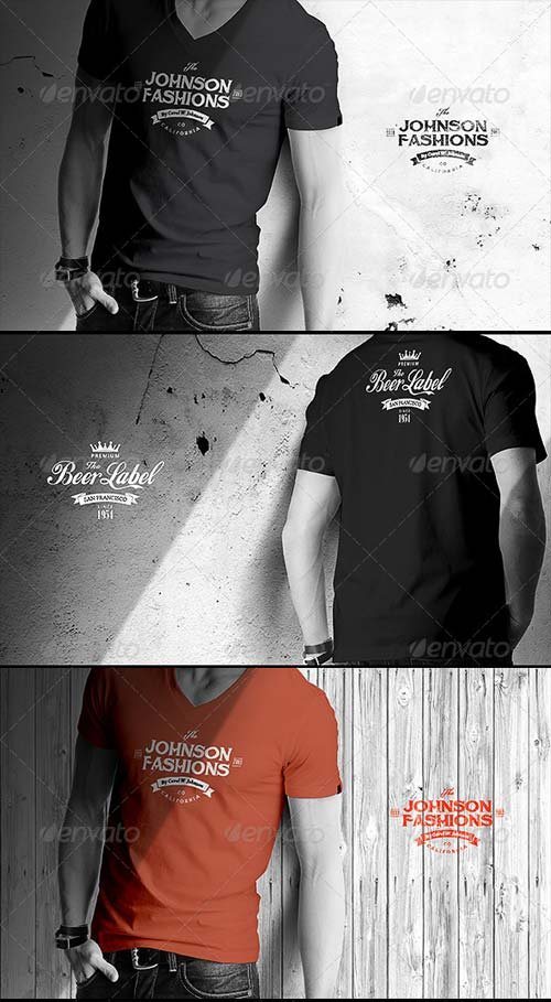 GraphicRiver Mens T-shirt Mock-up
