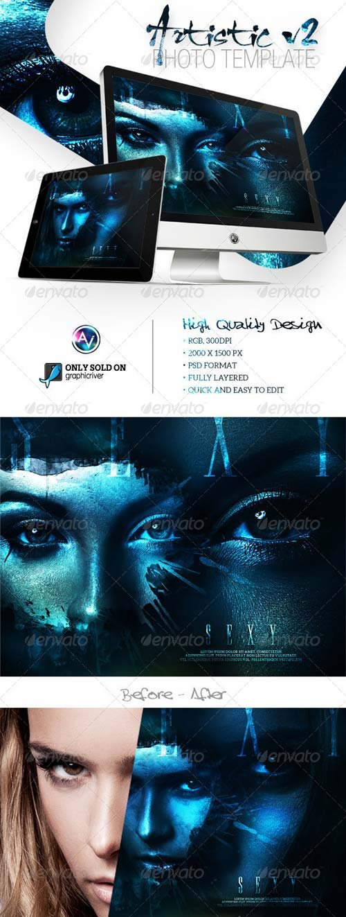 GraphicRiver Artistic Photo Template V2