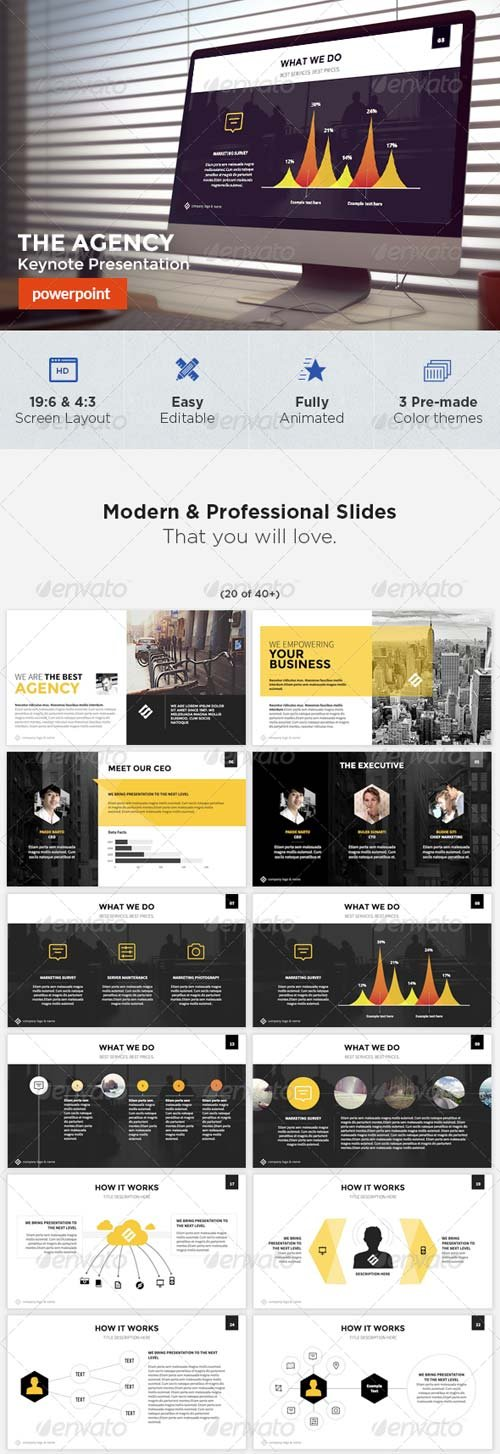 GraphicRiver The Agency - Powerpoint Template