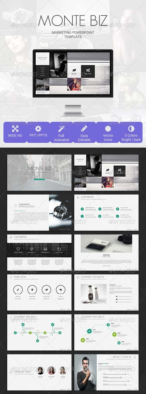GraphicRiver Monte Biz Presentation Template