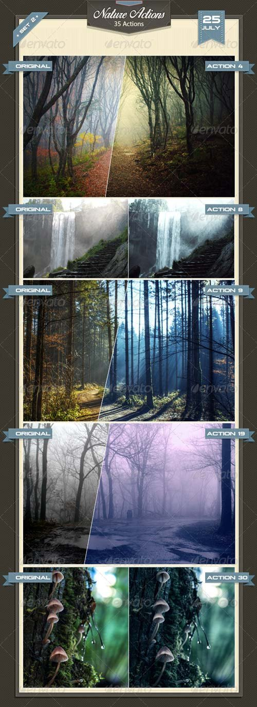 GraphicRiver Nature Photoshop Actions Set 2