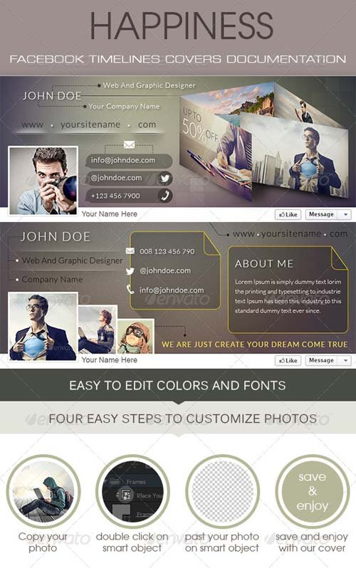 GraphicRiver Happiness Facebook Timeline Cover
