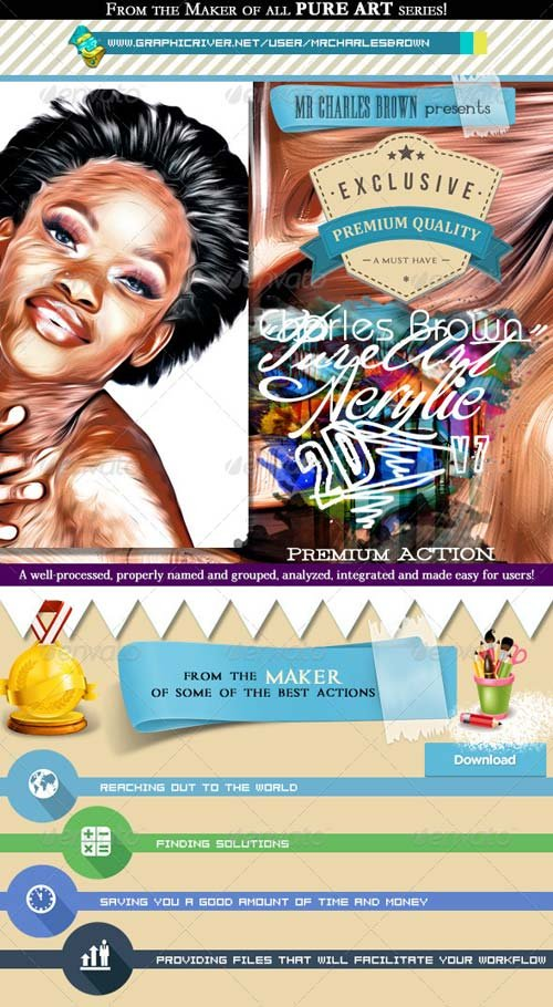 GraphicRiver Pure Acrylic Oil 2D Art - Charles Brown's Kit 7