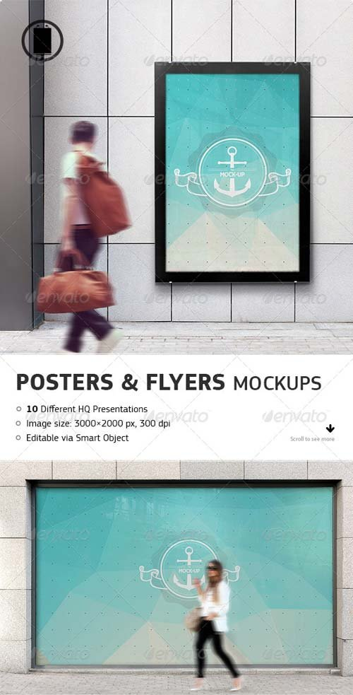 GraphicRiver Flyer, Poster and Billboard Mockups
