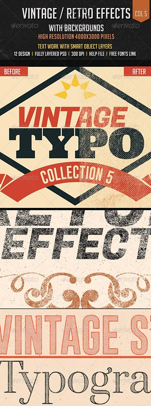 GraphicRiver Vintage/Retro Effects Col 5