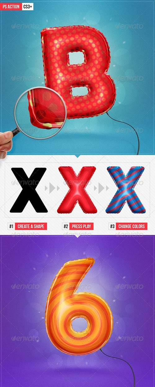 GraphicRiver Balloon Effect - Ps Action