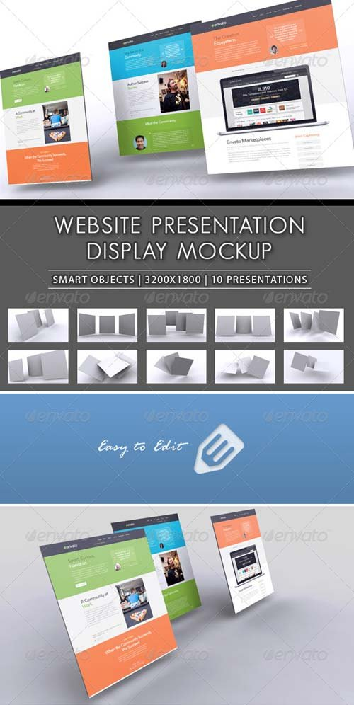 GraphicRiver 3D Website Presentation Mockup