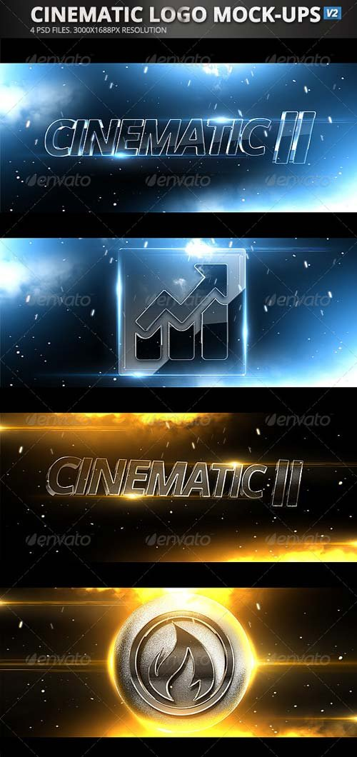 GraphicRiver Cinematic Logo Mock-Ups v2