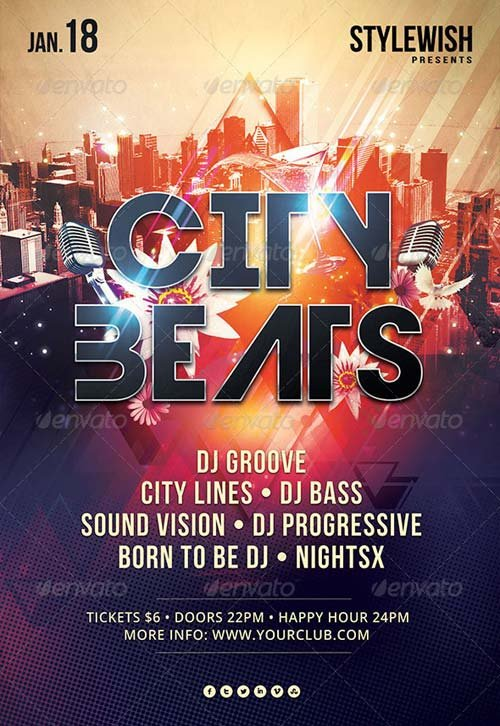 GraphicRiver City Beats Flyer