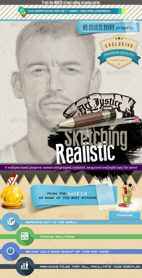 GraphicRiver Art Justice Realistic Sketching