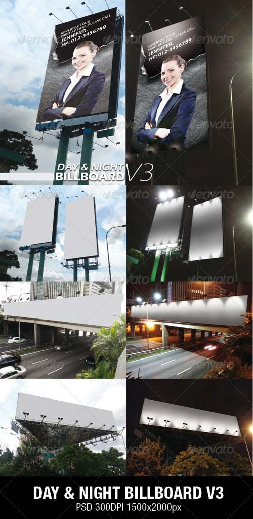 GraphicRiver DAY & NIGHT BILLBOARD V3