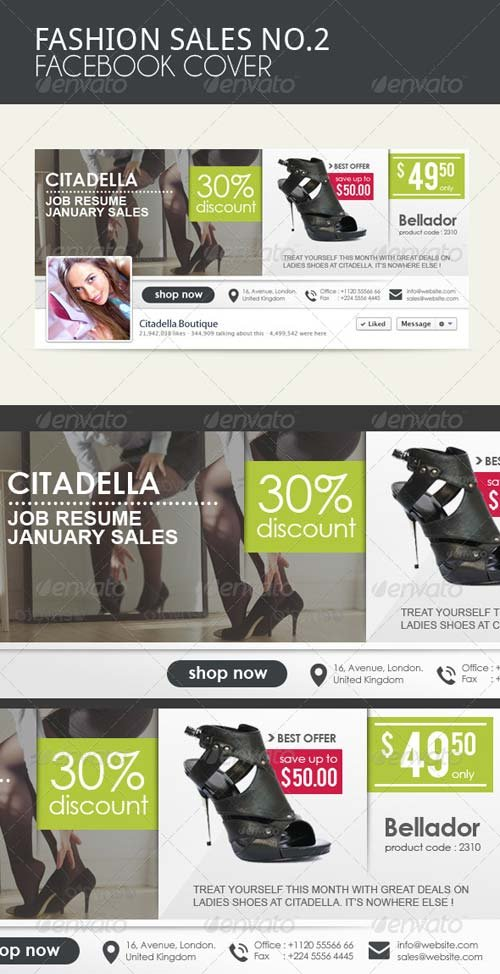 GraphicRiver Fashion Sales Facebook Cover