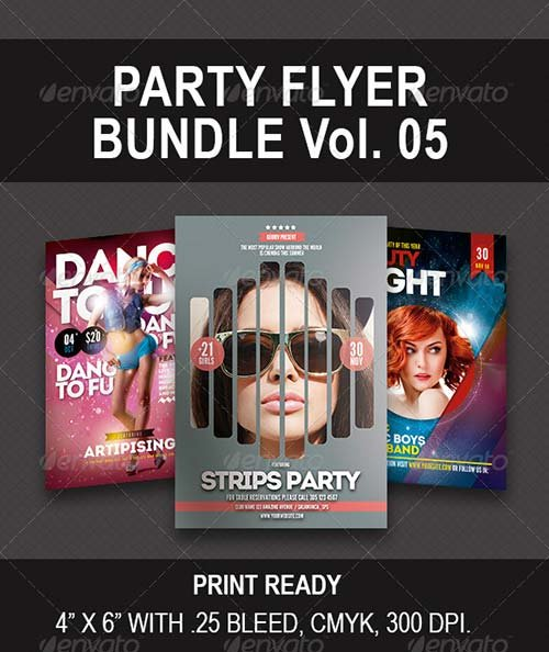 GraphicRiver Party Bundle Flyer vol 05