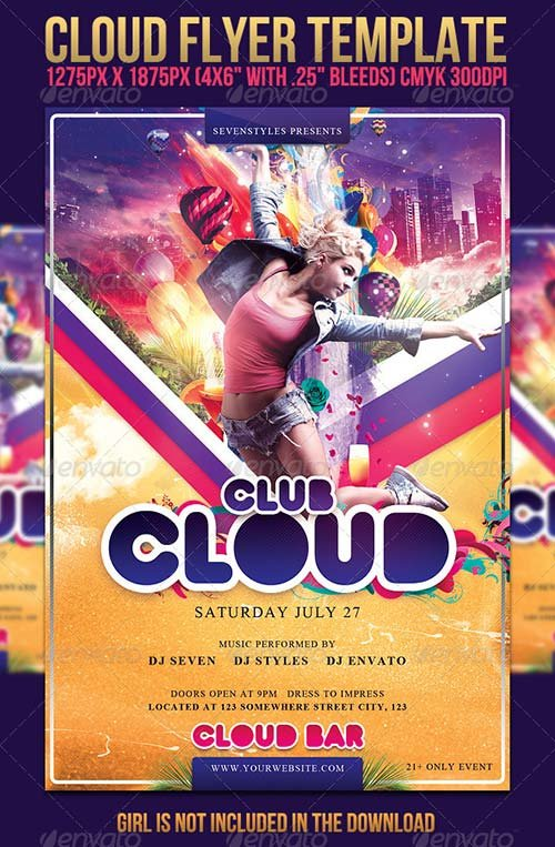 GraphicRiver Cloud Flyer Template