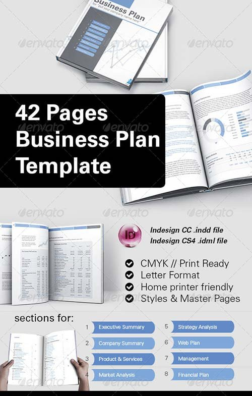 GraphicRiver 42 Pages Business Plan Template