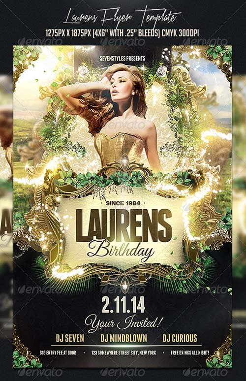 GraphicRiver Laurens Flyer Template