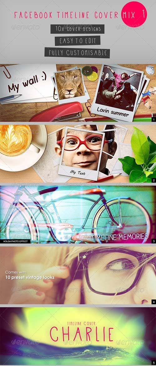 GraphicRiver Facebook Timeline Cover Mix 1