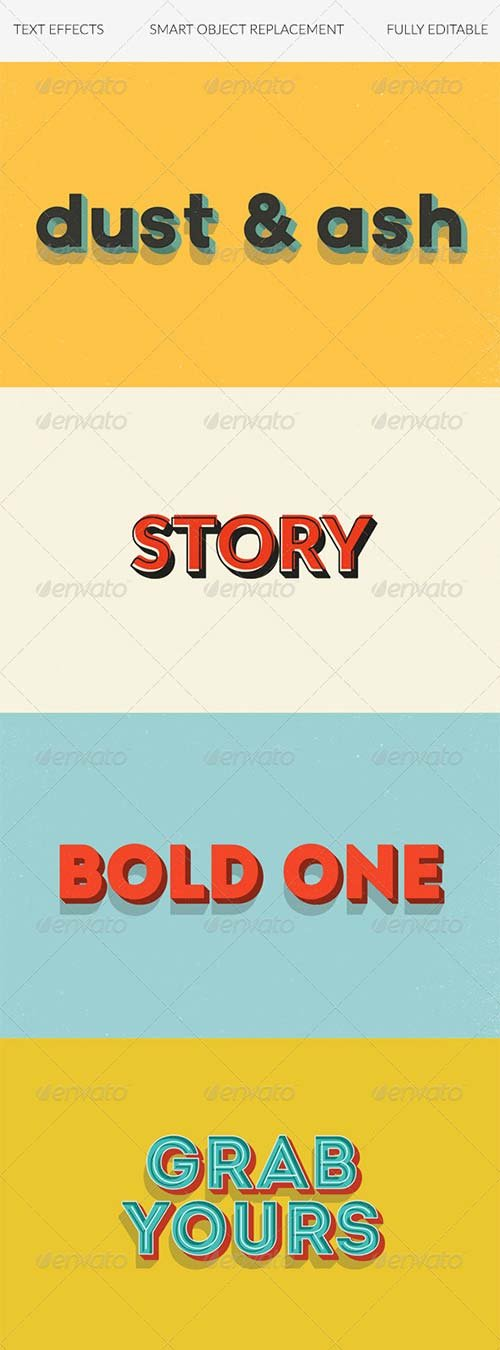 GraphicRiver Text Effects | Vintage | 3D | Retro vol. 3
