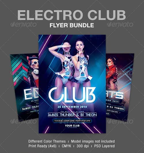 GraphicRiver Electro Club Flyer Bundle