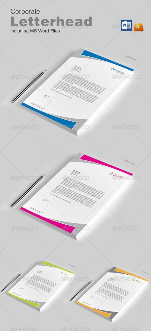 GraphicRiver Letterhead with word