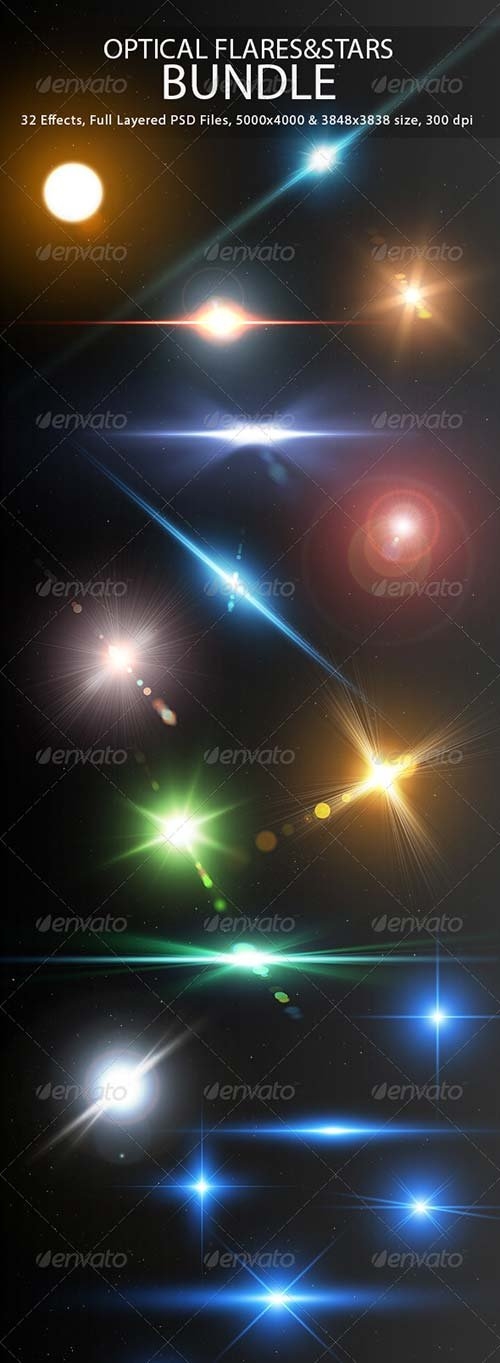 GraphicRiver Optical Flares&Stars Bundle