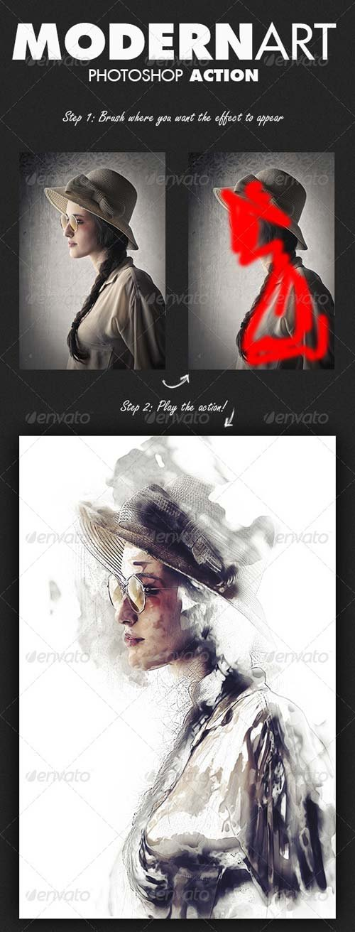 GraphicRiver ModernArt Photoshop Action