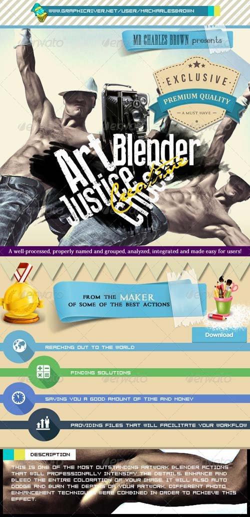 GraphicRiver Art Justice Choco Blender - Charles Brown's Kit
