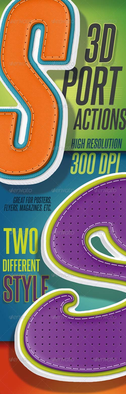 GraphicRiver 3D Sport Text - Actions