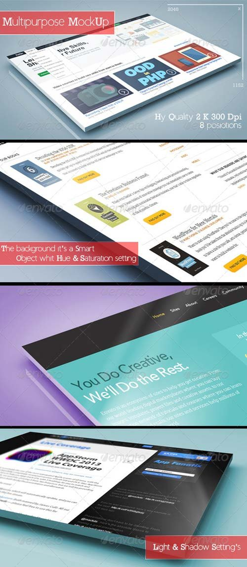 GraphicRiver 3D Multipurpose MockUp