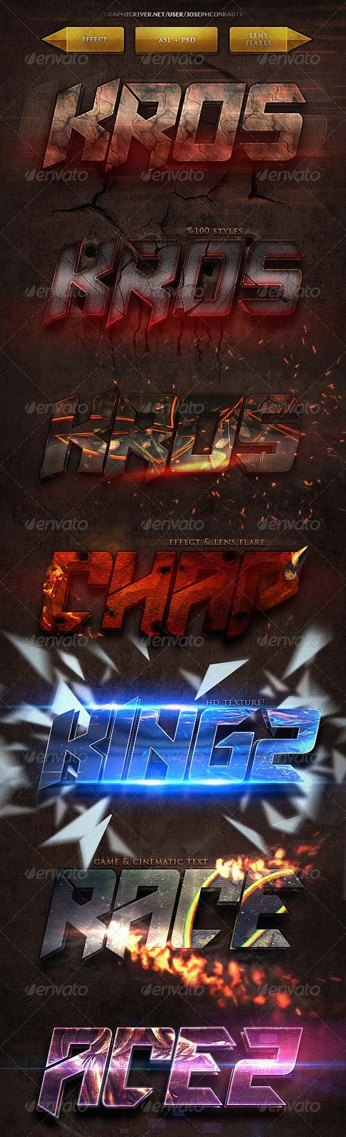 GraphicRiver Gametic Text Styles