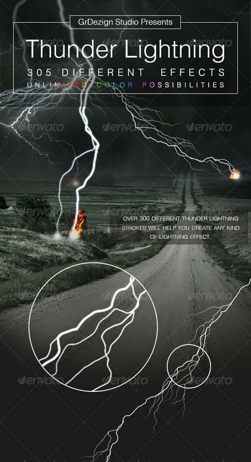 GraphicRiver Thunder Lightning Effects