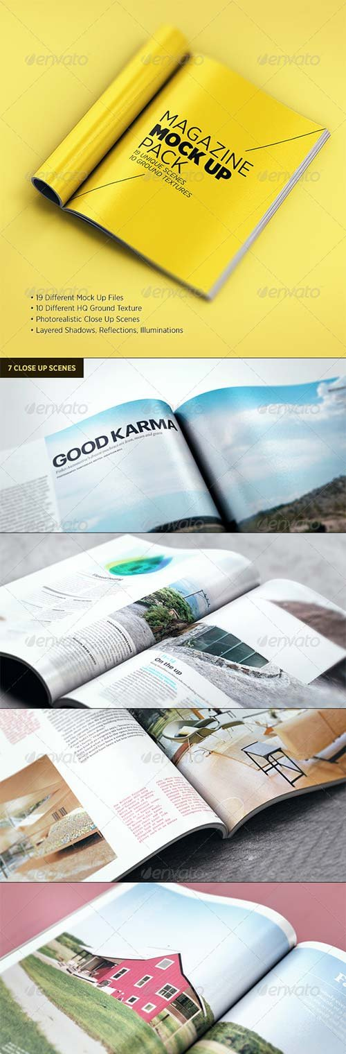 GraphicRiver Magazine Mock Up Pack