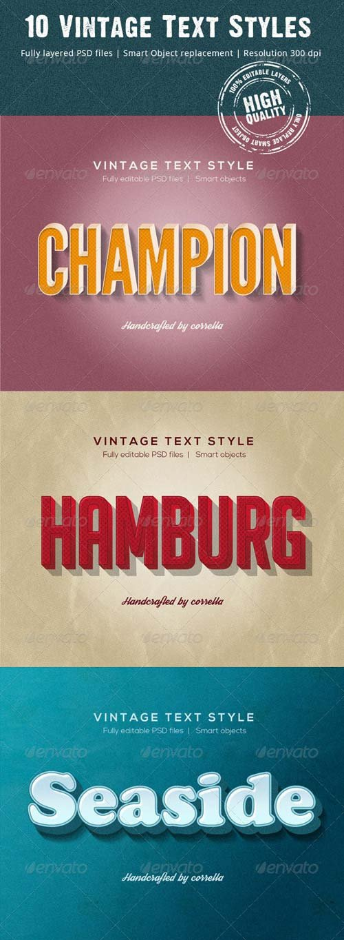 GraphicRiver 10 Vintage Text Styles