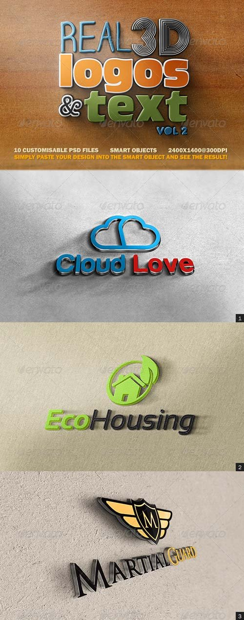 GraphicRiver Real 3D Logos and Text - Vol2