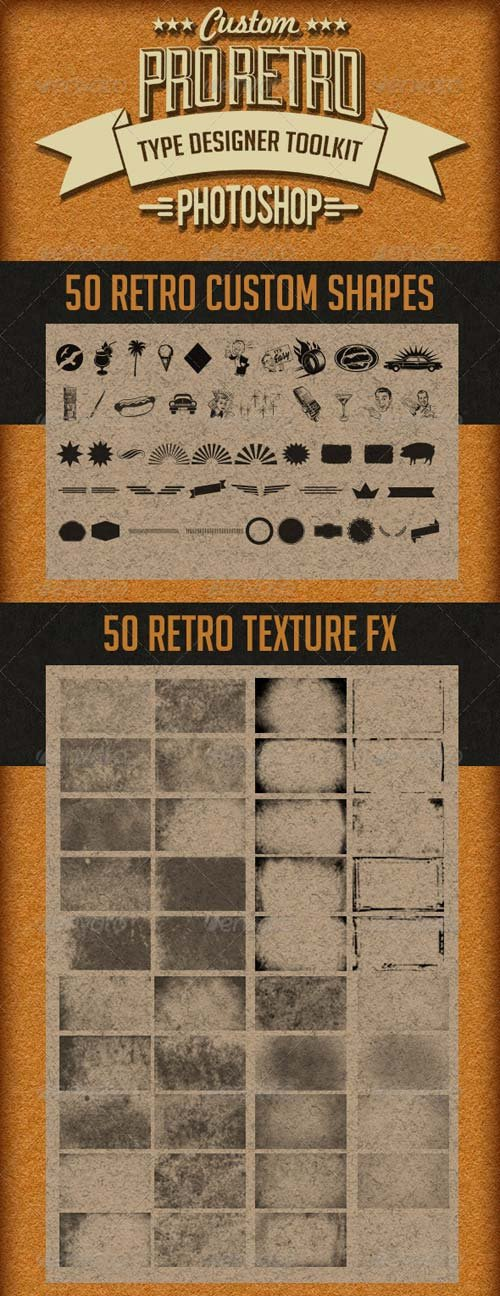 GraphicRiver Pro Retro Text Designer Toolkit