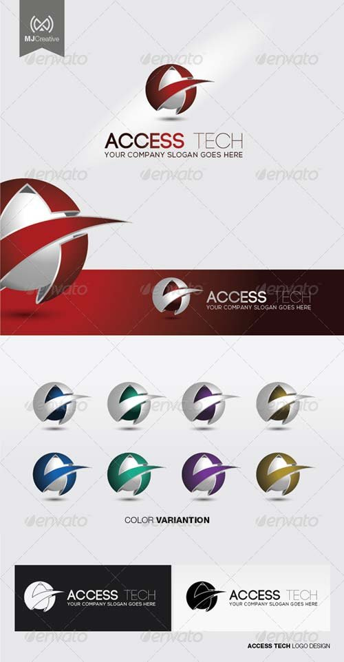 GraphicRiver A Tech 3D Logo