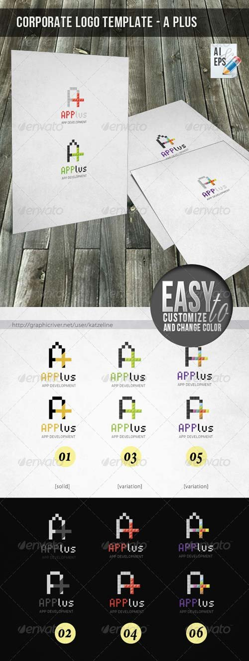 GraphicRiver Corporate Logo - A Plus