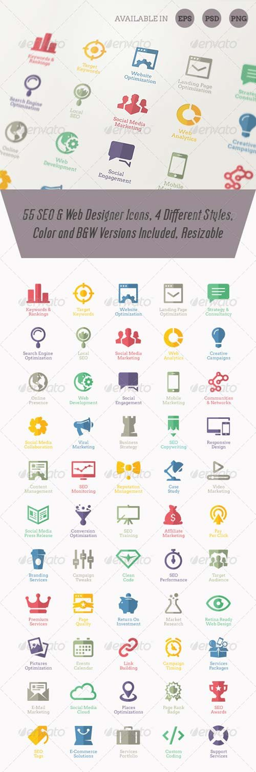 GraphicRiver Modern SEO Services Icons