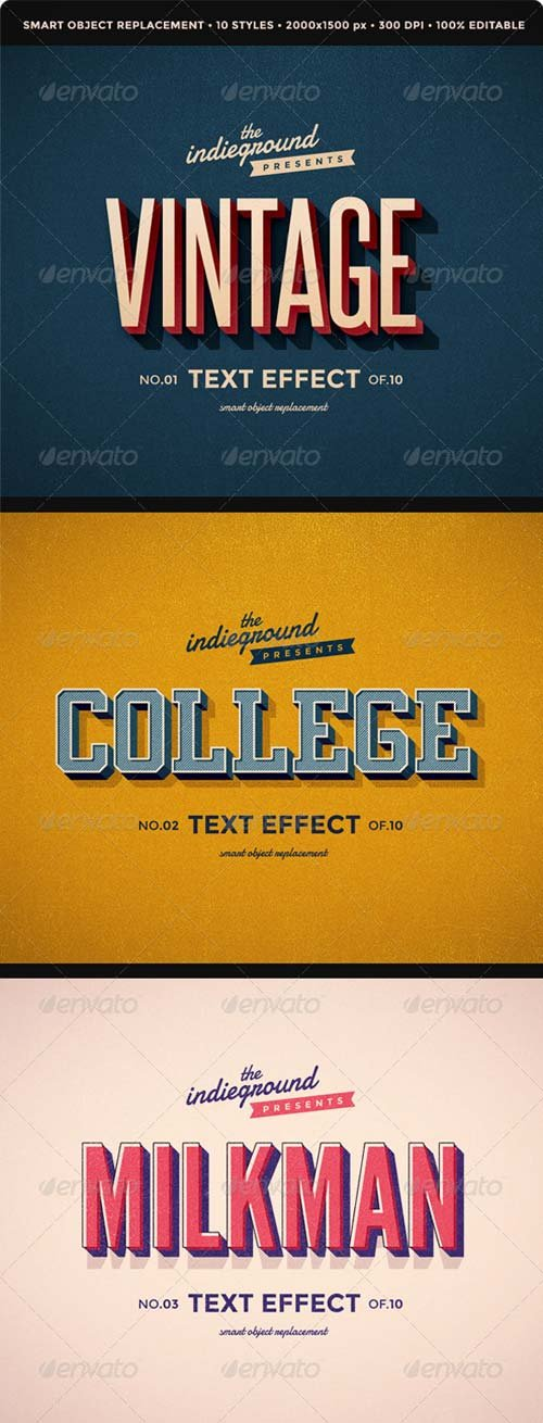 GraphicRiver Retro Vintage Text Effects