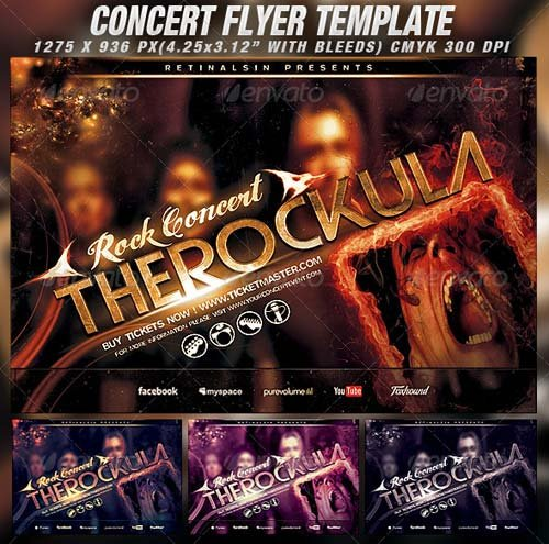 GraphicRiver Concert Flyer Template