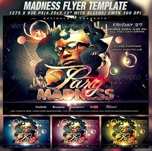 GraphicRiver Party Madness Flyer Template