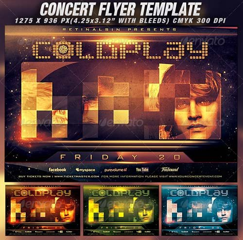 GraphicRiver Concert Flyer Template v.2