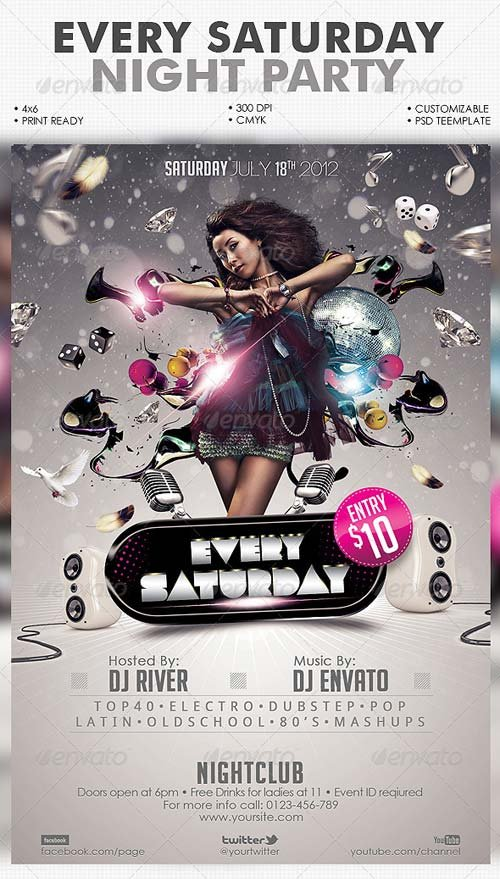 GraphicRiver Every Saturday Flyer Template