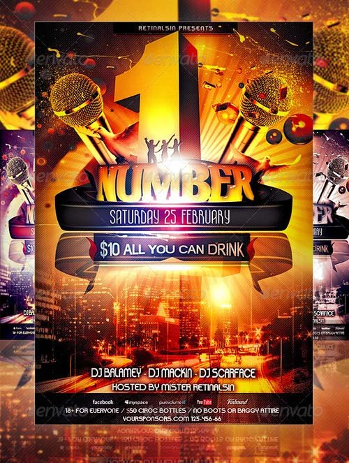 GraphicRiver NumberOne Party Flyer Template